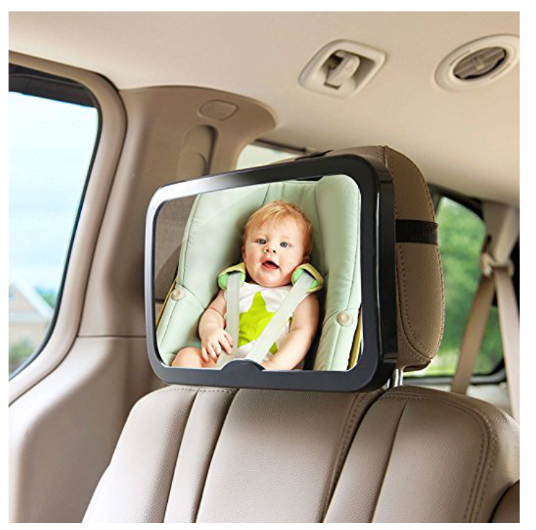 Cozy Greens® Baby Car Mirror Back Seat Rear facing Infant In Sight